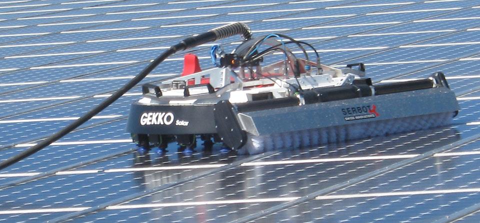 Solar-Panel-Reinigung